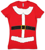 Juniors: Mrs. Claus Costume Tee Shirt