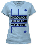 Juniors: New Order - Fact. 50 1981 Movement T-Shirts