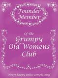 Grumpy Old Womens Club Carteles metálicos