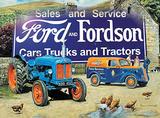 Ford & Fordson Cartel de chapa por Trevor Mitchell