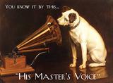 His Master's Voice Plakietka emaliowana