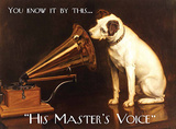 His Master's Voice Cartel de chapa