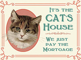 Cats House Cartel de chapa