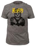 Misfits - Classic Skull Yellow Logo  (slim fit) Tričko