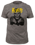 Misfits - Classic Skull Yellow Logo  (slim fit) T-Shirts