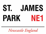 St. James Park Tin Sign