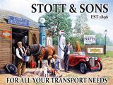 Stott & Sons Blikskilt af Kevin Walsh