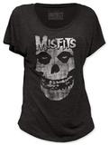 Juniors: Misfits - Distressed Skull (dolman) Bluse