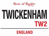 Twickenham Tin Sign