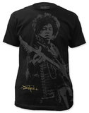 Jimi Hendrix - Shadow Jimi (slim fit) Camisetas