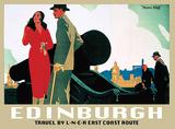 Edinburgh Art Deco Cartel de chapa