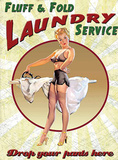 Fluff & Fold Laundry Service Tin Sign