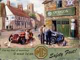 MG Service Tin Sign by Kevin Walsh