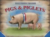 Pigs & Piglets Blechschild