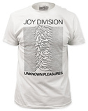 Joy Division - Unknown Pleasures White (slim fit) T-shirts