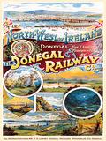 Donegal Railway Cartel de metal