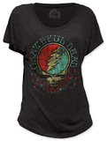 Juniors: Grateful Dead - Space Face (dolman) T-shirts