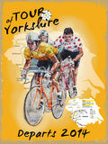 Tour de Yorkshire Cartel de chapa