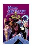 Young Avengers 13 Cover: Hulkling, Prodigy, Wiccan, Noh-Varr, Bishop, Kate, Miss America Prints by Jamie McKelvie
