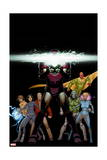 Avengers A.I. 6 Cover: Iron Man, Vision, Alexis, Doombot, Pym, Hang, Chang, Monica, Mancha, Victor Prints by David Marquez