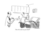 """Does this make me your bitch"" - New Yorker Cartoon Premium Giclee Print by Pat Byrnes"