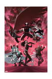Uncanny X-Force 35 Cover: Psylocke, Archangel, Fantomax, Deathlok, Deadpool, Nightcrawler Prints by Julian Totino Tedesco