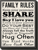 Family Rules Framed Print Mount by Louise Carey