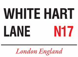 White Hart Lane Blechschild