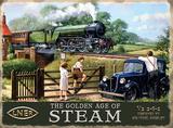 The Golden Age of Steam Blechschild von Kevin Walsh