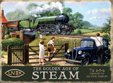 The Golden Age of Steam Plåtskylt av Kevin Walsh
