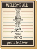 Welcome All Framed Print Mount by Rebecca Peragine
