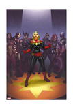 Avengers: the Enemy Within 1 Cover: Captain Marvel, Thor, Iron Man, Hawkeye, Black Widow Print by Joe Quinones