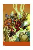 Deadpool 20 Cover: Deadpool, Devil Dinosaur, Uatu the Watcher, Mangog, Moon-Boy Poster by Scott Koblish