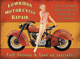 Lowrider Motorcycle Repair - Metal Tabela