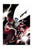 Avengers 23 Cover: Spider Woman, Captain America, Thor, Black Widow, Proxima Midnight Poster av Leinil Francis Yu