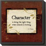 Character Framed Print Mount by Jennifer Pugh