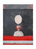 Egg over Red and Black Giclee Print by Charlie Millar