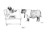 """Moo."" - New Yorker Cartoon Premium Giclee Print by Edward Steed"