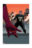 Avenging Spider-Man 22 Cover: Spider-Man, Punisher Print by Paolo Rivera