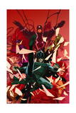 Inhumanity 1 Cover: Black Bolt, Karnak, Medusa, Crystal, Triton, Gorgon Prints by Olivier Coipel