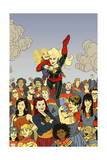 Captain Marvel 17 Cover: Captain Marvel Prints by Joe Quinones