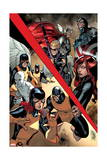 All-New X-Men 8 Cover: Hawkeye, Thor, Captain America, Black Widow, Angel, Cyclops, Iceman, Beast Prints by Stuart Immonen