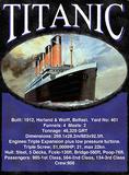 Titanic Statistics Plakietka emaliowana