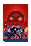 Uncanny Avengers 7 Cover: Havok, Captain America, Sunfire, Scarlet Witch, Thor Print by John Cassaday
