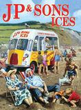 J P & Sons Ices Blechschild von Kevin Walsh