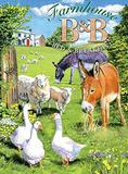 Farmhouse B&B Tin Sign by Trevor Mitchell