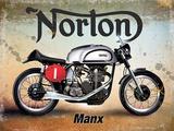 Norton Plaque en métal