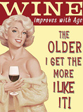 Improves With Age Blikkskilt