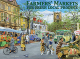 Farmers Markets Tin Sign by Trevor Mitchell