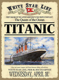 Titanic - Advertising First Sailing Cartel de chapa